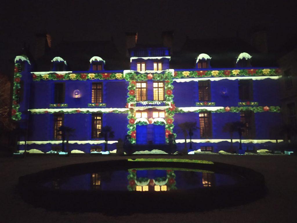 Projection 3D sur la façade du chateau