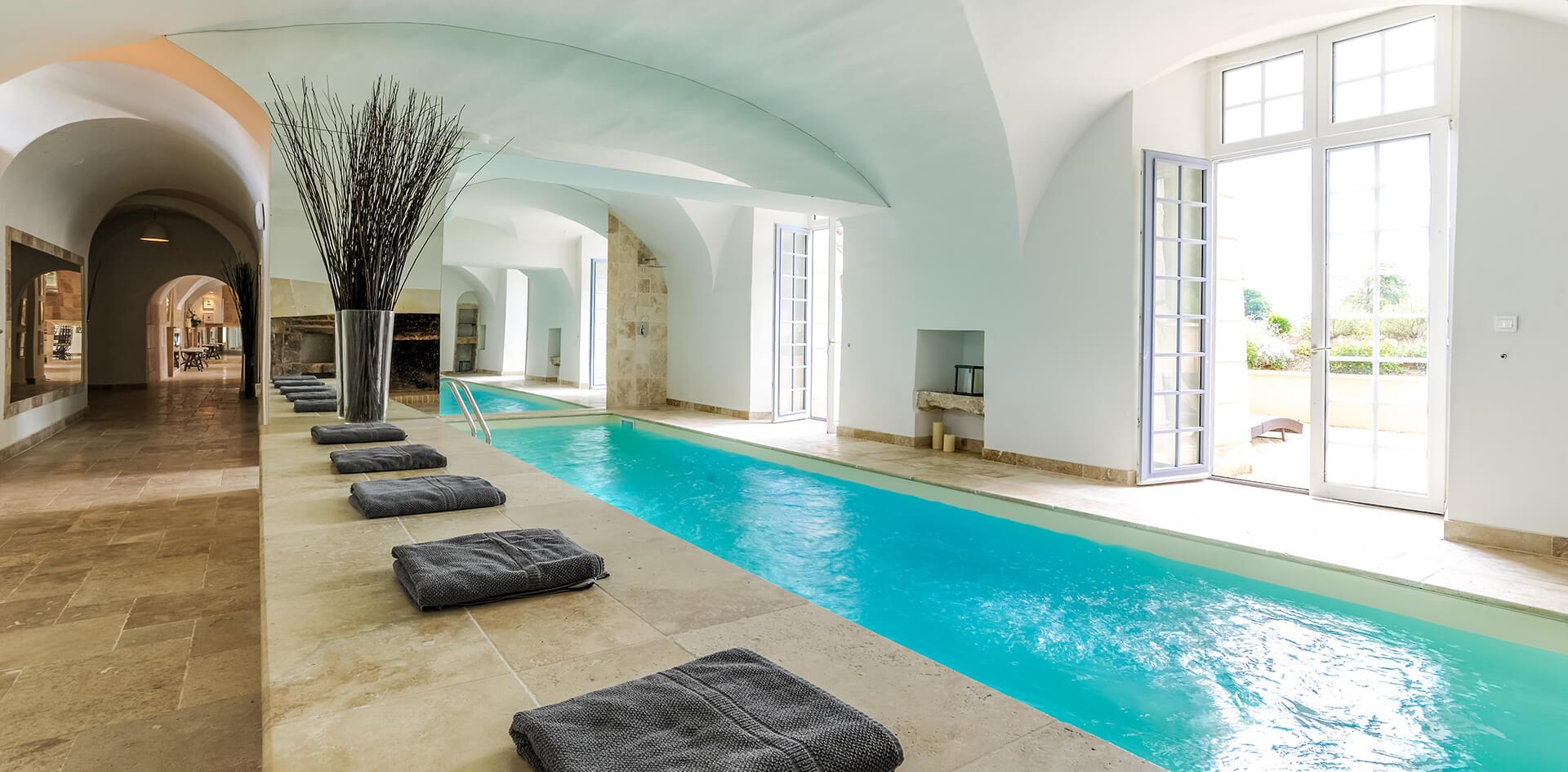 Notre piscine intérieur spa